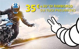 Promo Michelin Moto - Rimborso fino a 35 €